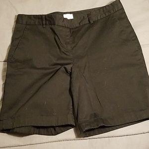 Black EUC polished cotton shorts